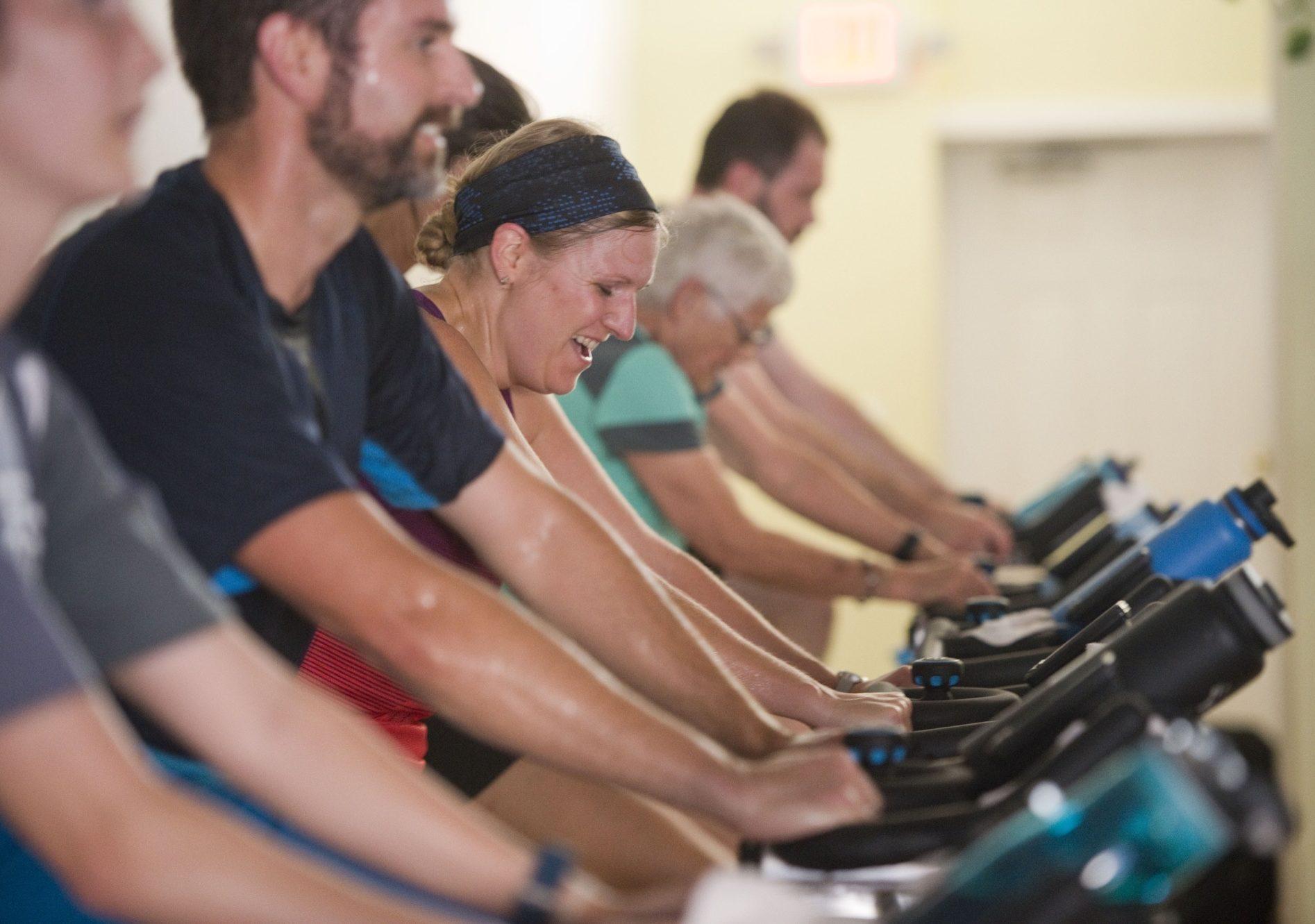 Cardio class high intensity workout